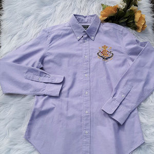 Ralph Lauren Sport Button Down with Crest Sz. 12